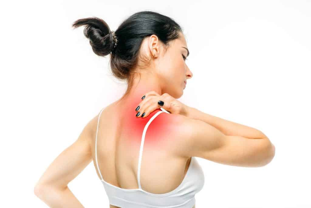 Joint pain, woman have problem with neck